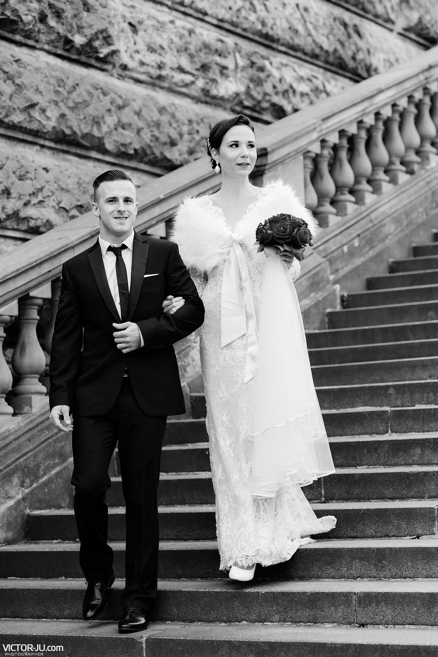Свадебная прогулка вдвоем по Праге