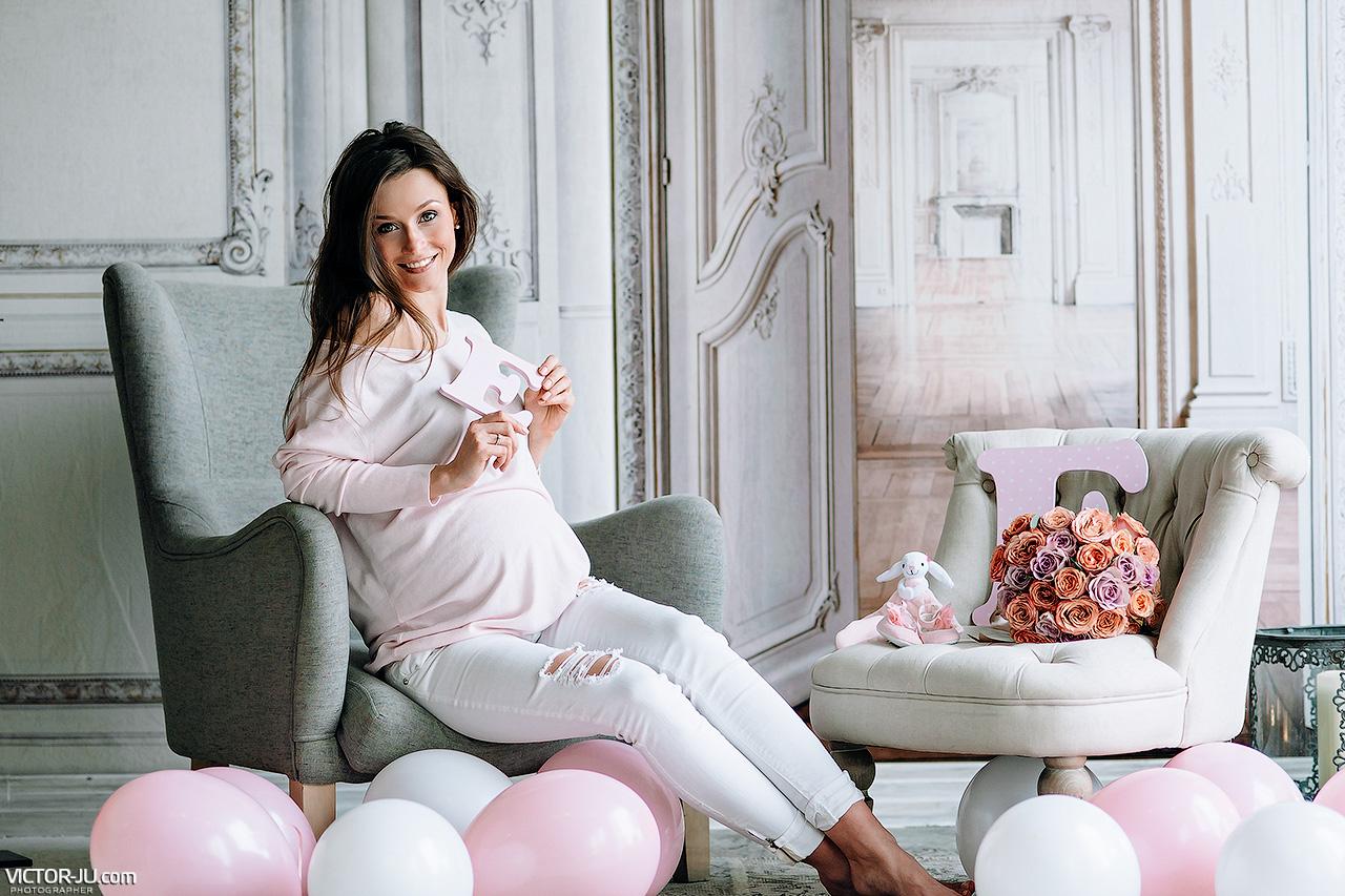 Беременная фотосессия в Праге