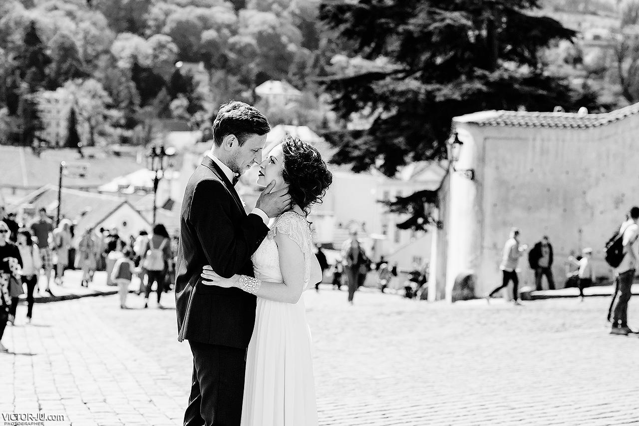 Свадебная фотосъемка на Пражском граде