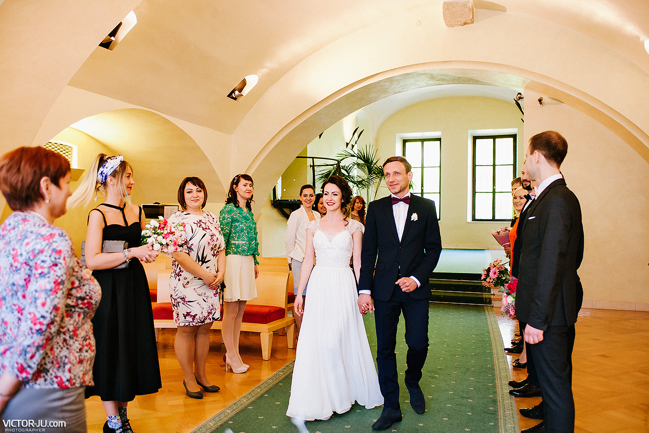wedding at the Old Town Hall
