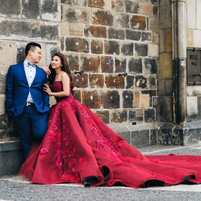 wedding photoshoot in Prague