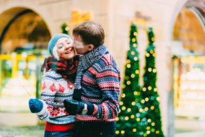 Love story в Праге зимой