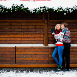 Фотосессия в Праге на Рождество