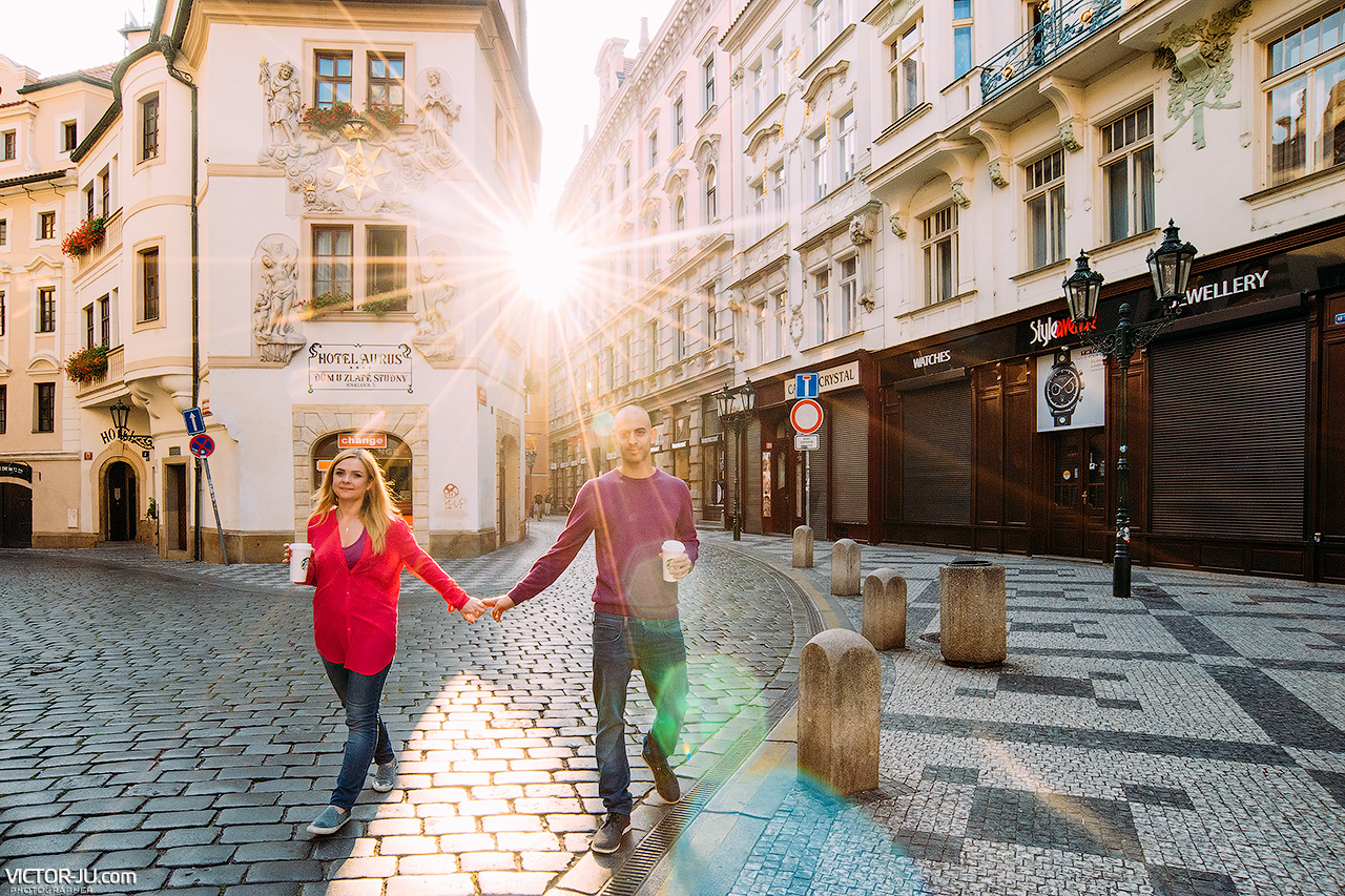 Prewedding photoshoot in Prague