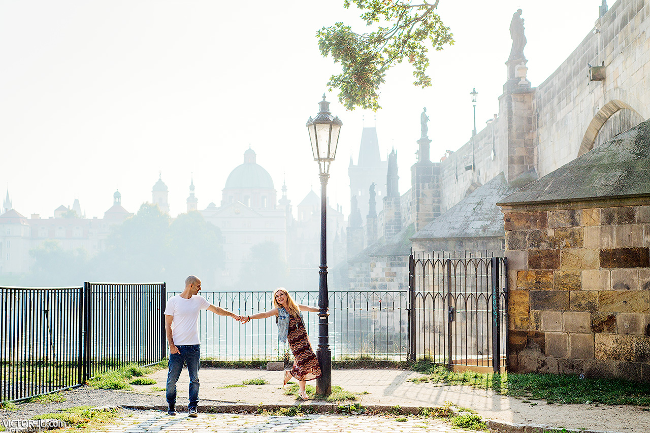 Love story in Prague