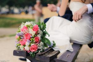 Карлов мост, букет невесты