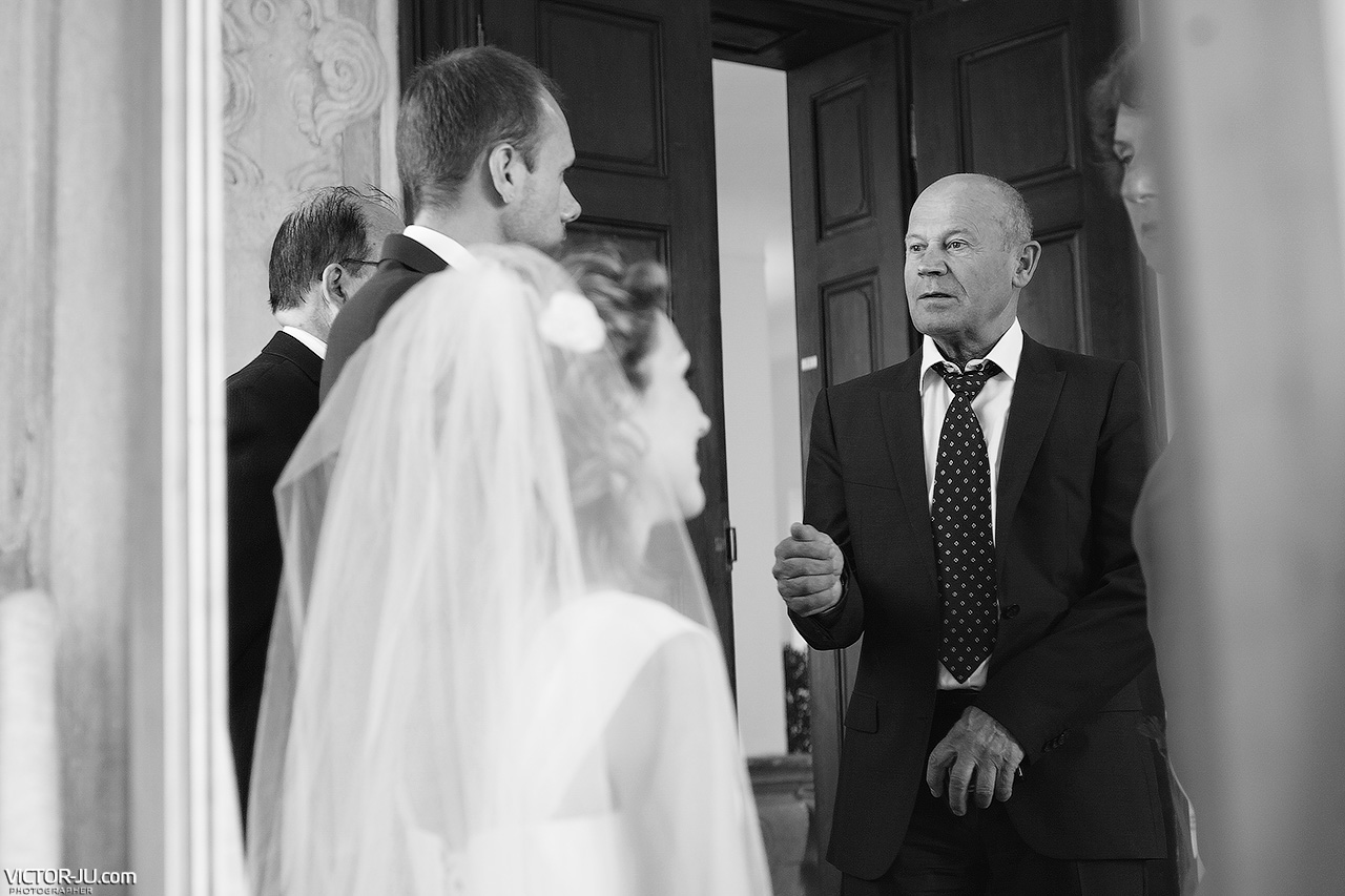 The wedding ceremony in Prague