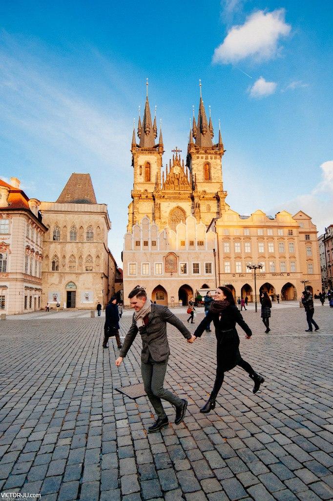 Романтическая фотосессия на Староместкой площади