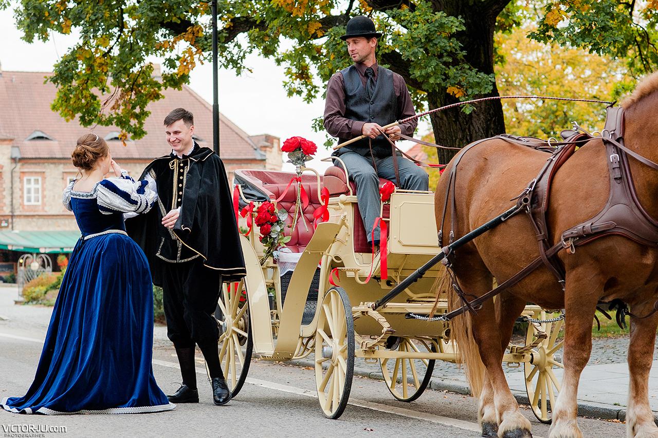 Встреча жениха и невесты в Замке