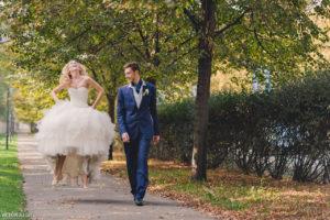 Свадебная прогулка по Праге осенью