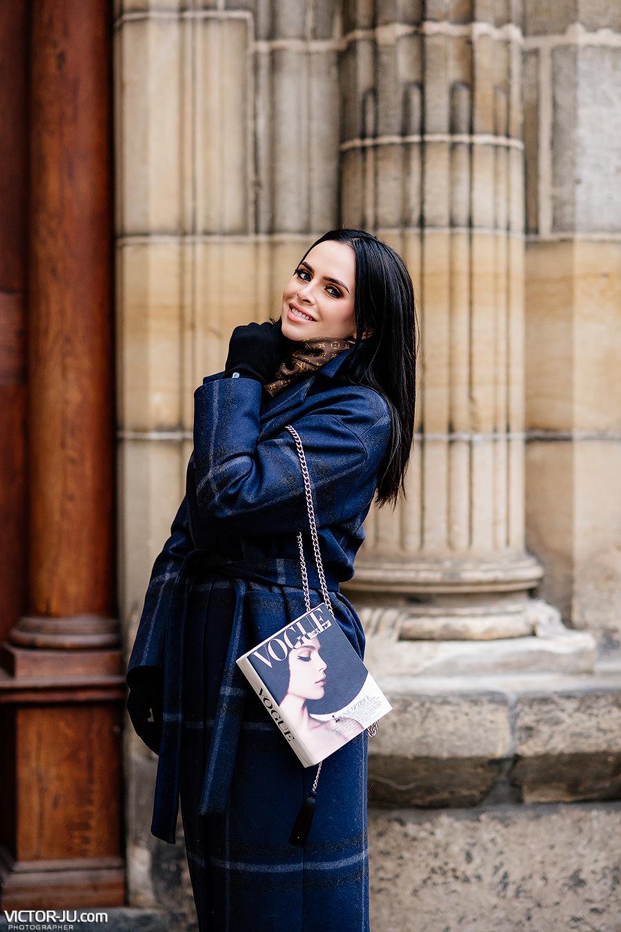 Фотосессия зимой в Праге