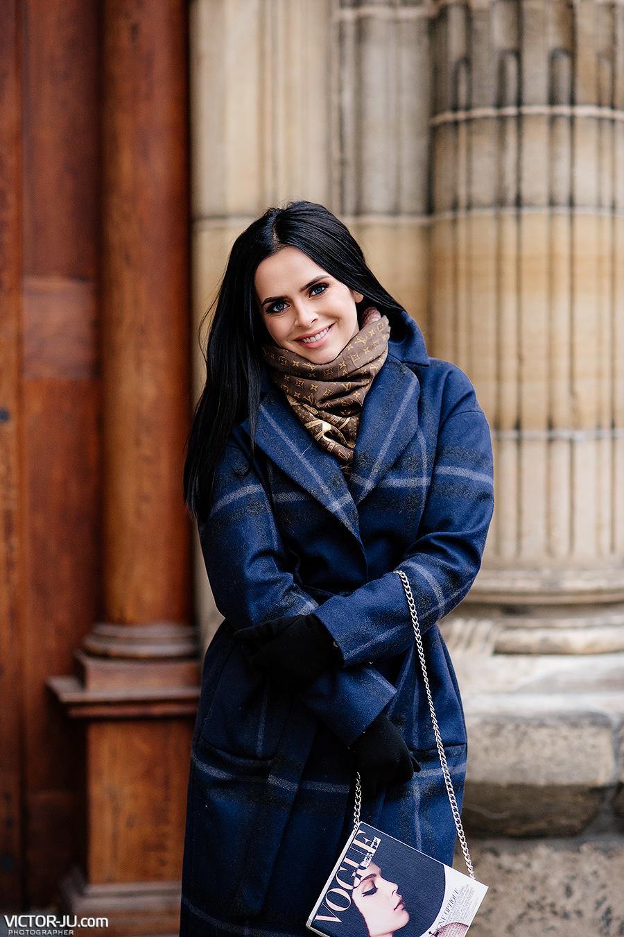 Фотосессия в декабре в Праге