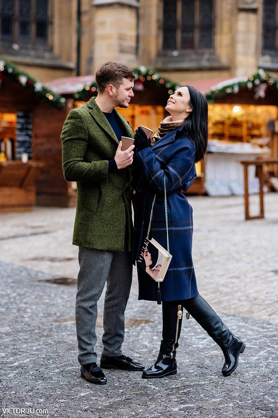 Новогодняя фотосессия в Праге