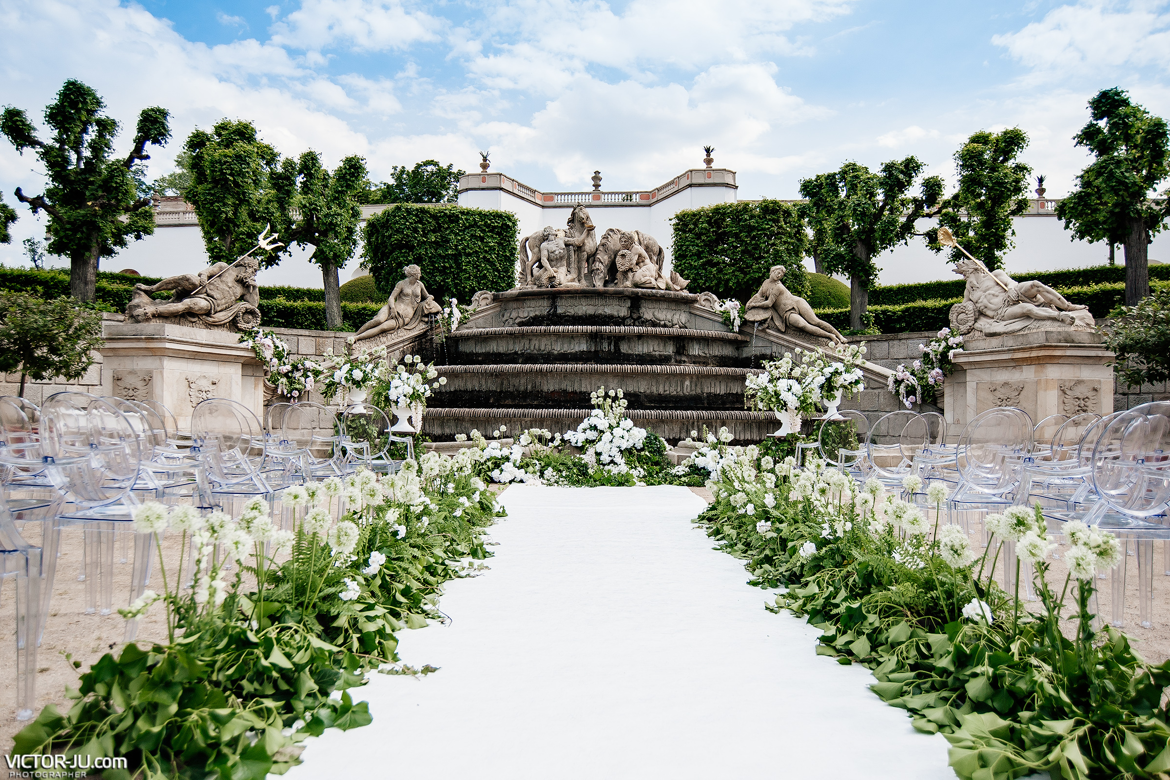 Английский сад в замке Добриш