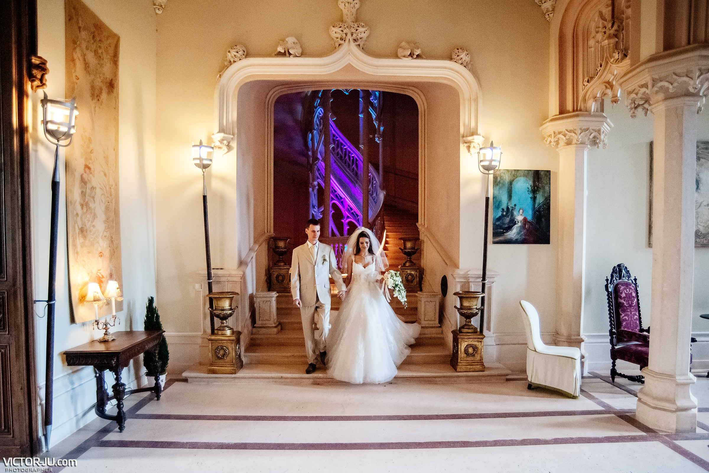 Wedding in the castle of France