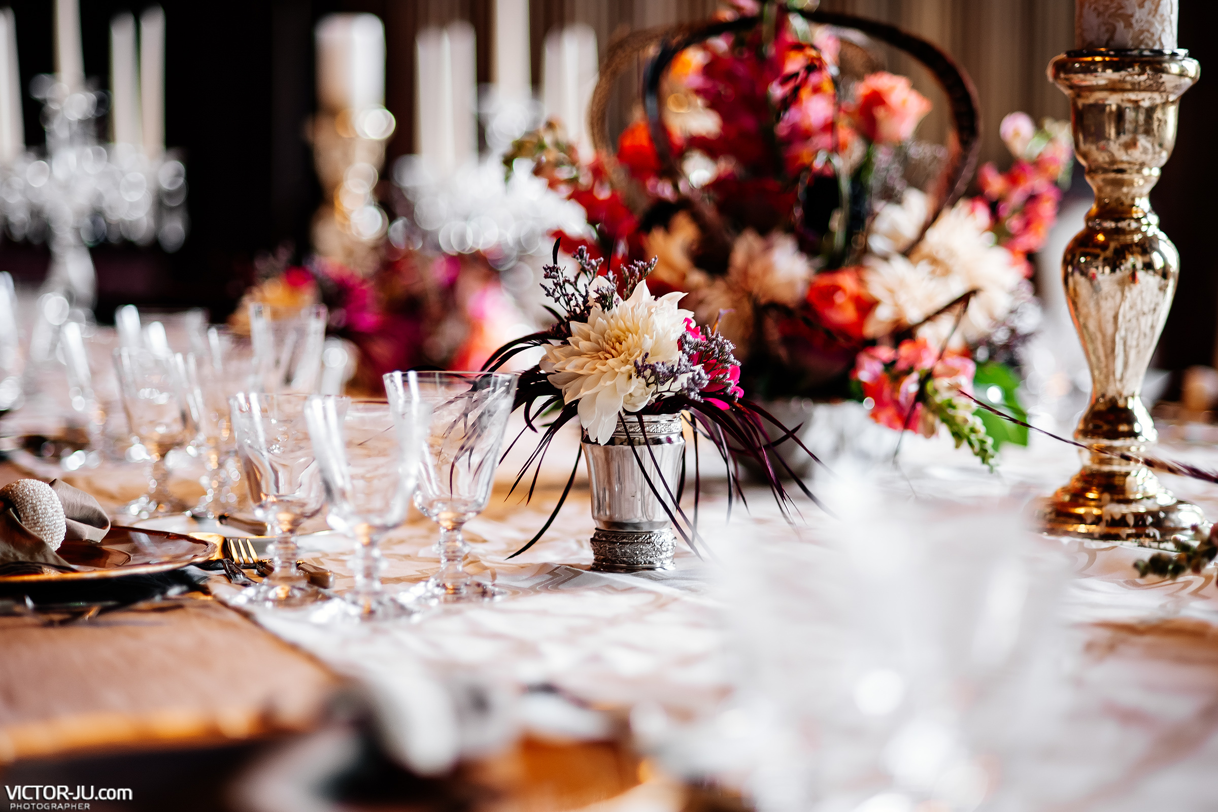 Wedding decor Chateau de Challain
