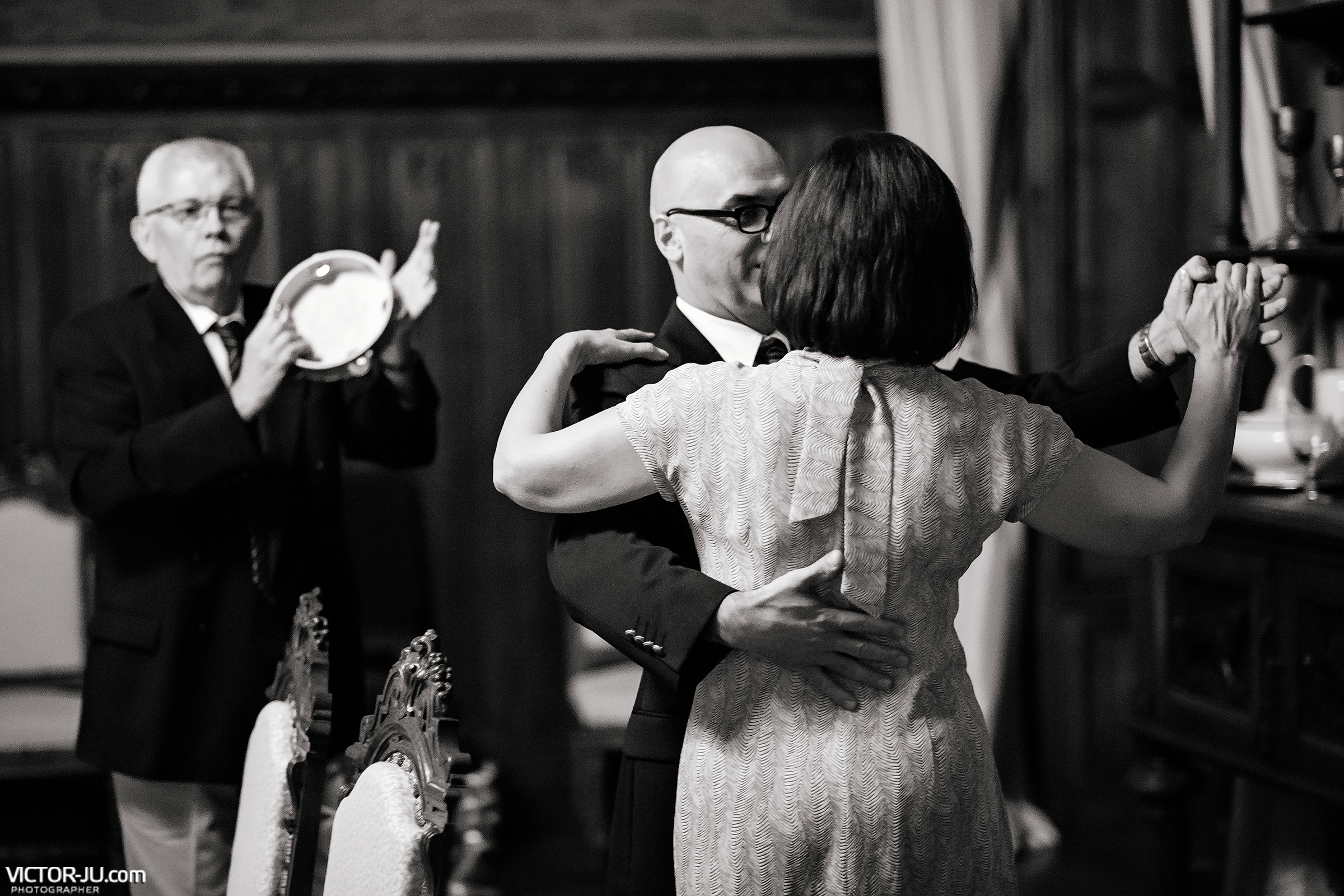 Dancing at a French wedding