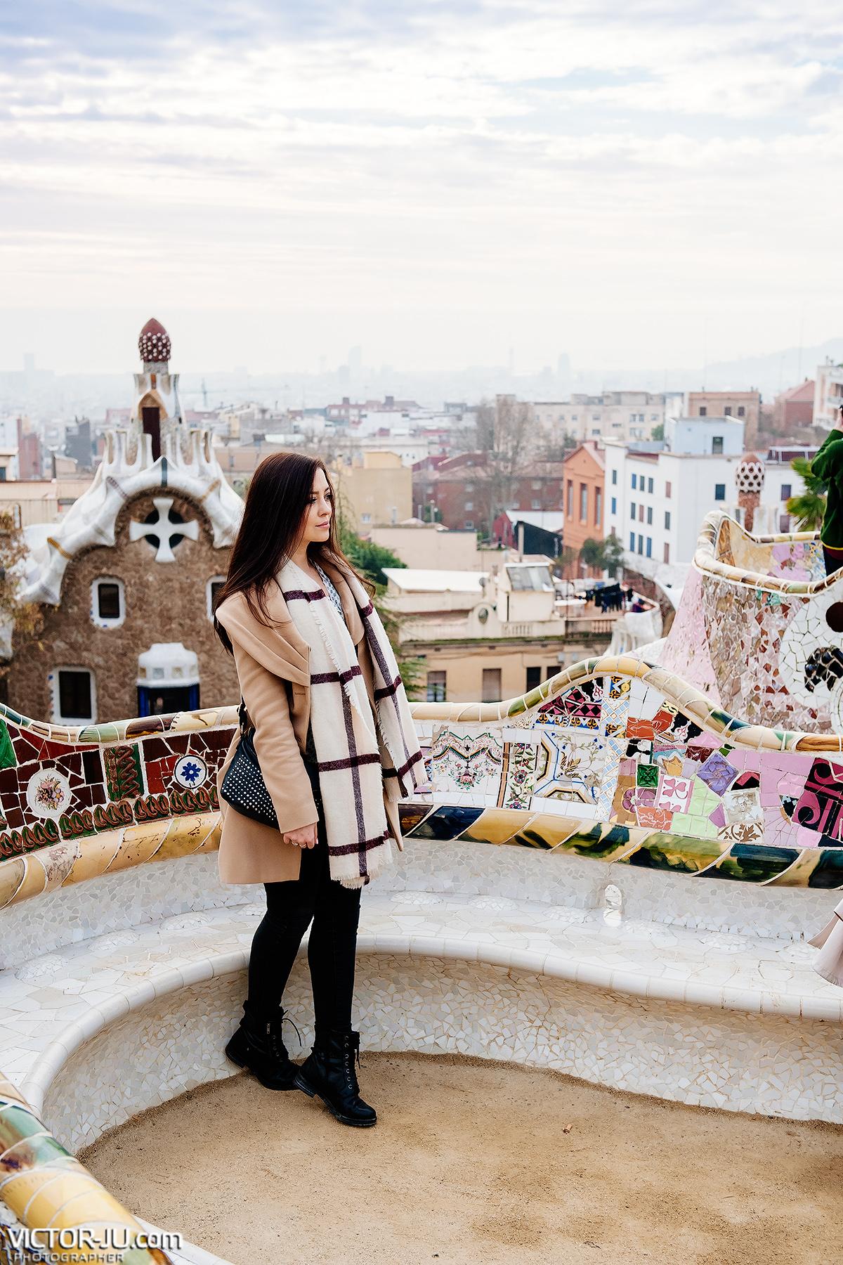 Фотосессия в Барселоне, парке Гуэль