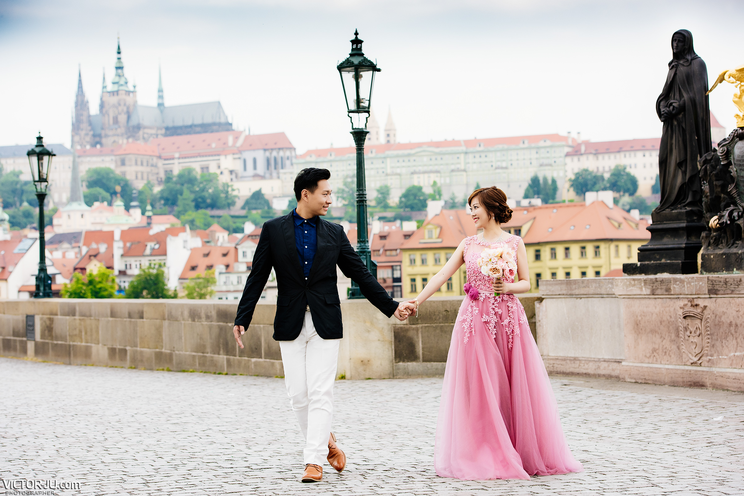 Photo shoot on the Charles Bridge