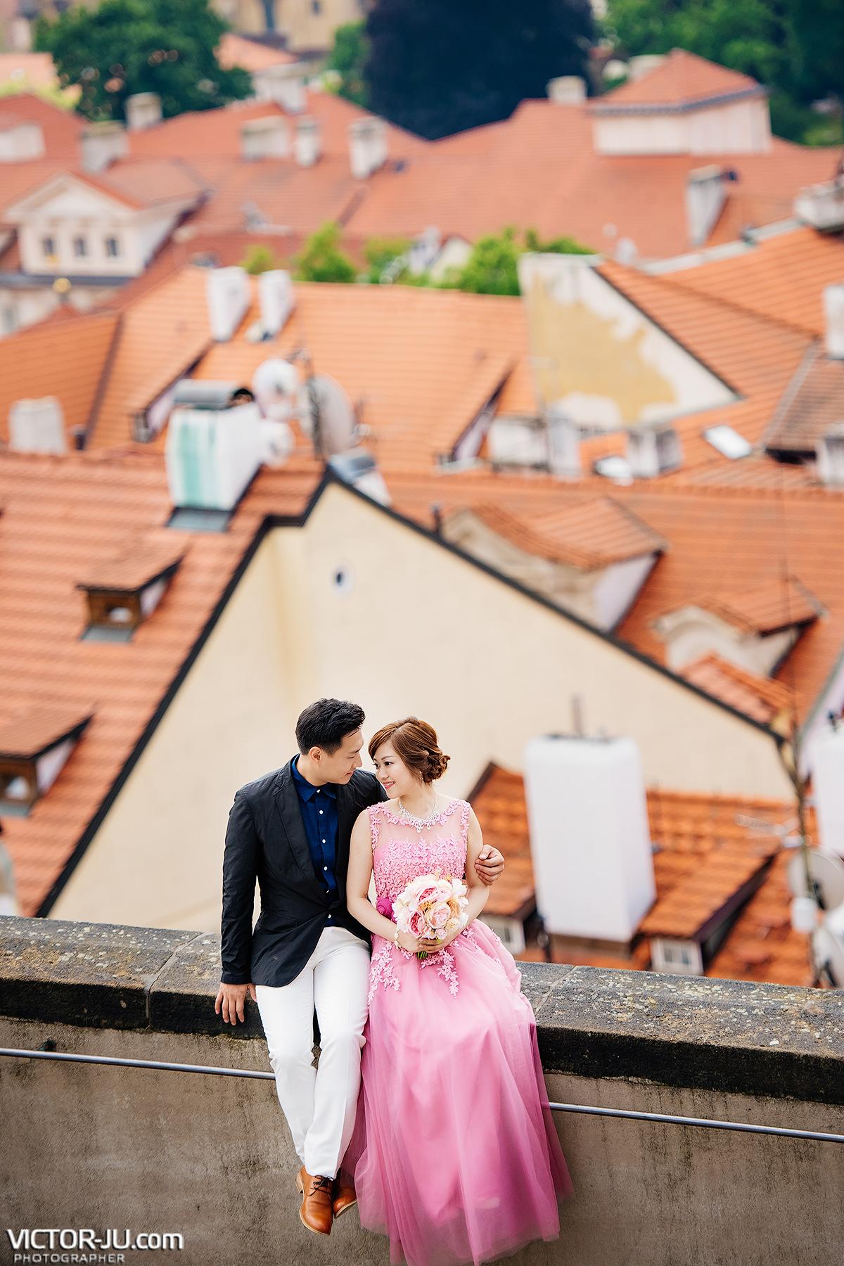 Фотосессия на крышах Праги