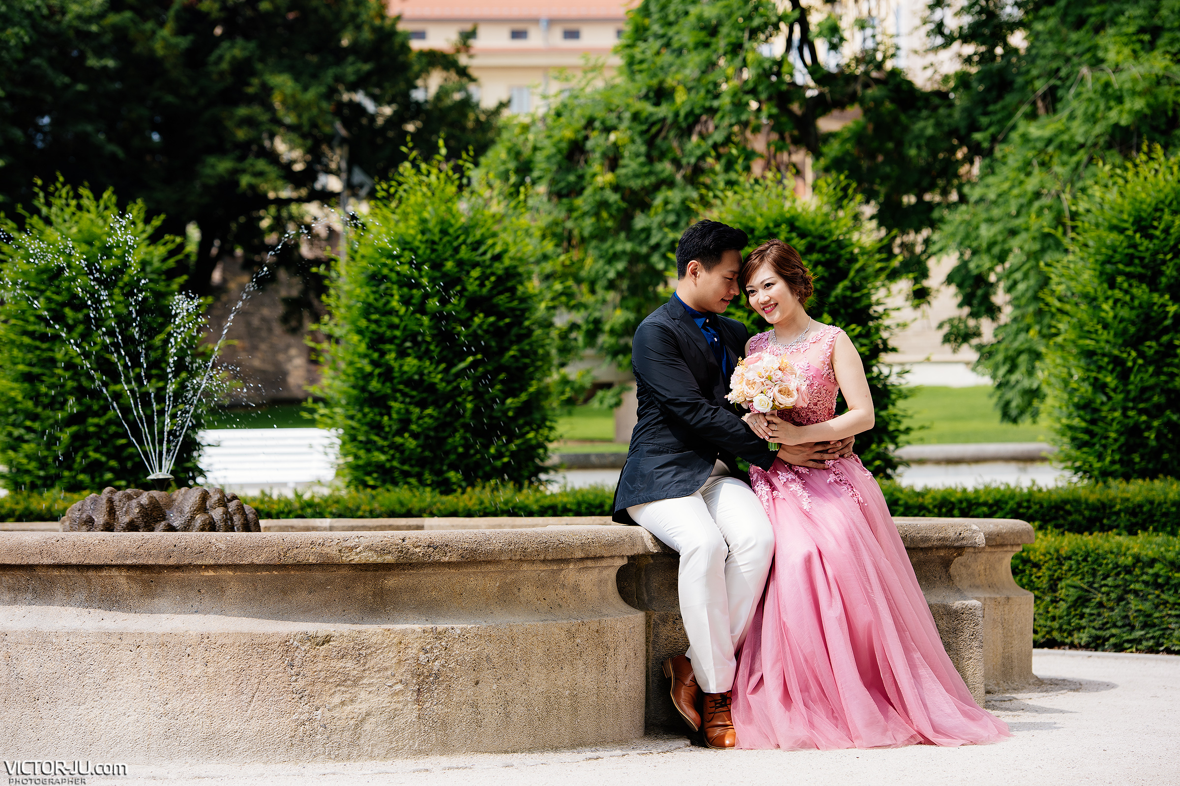 Photoshoot in the Garden of Prague Castle