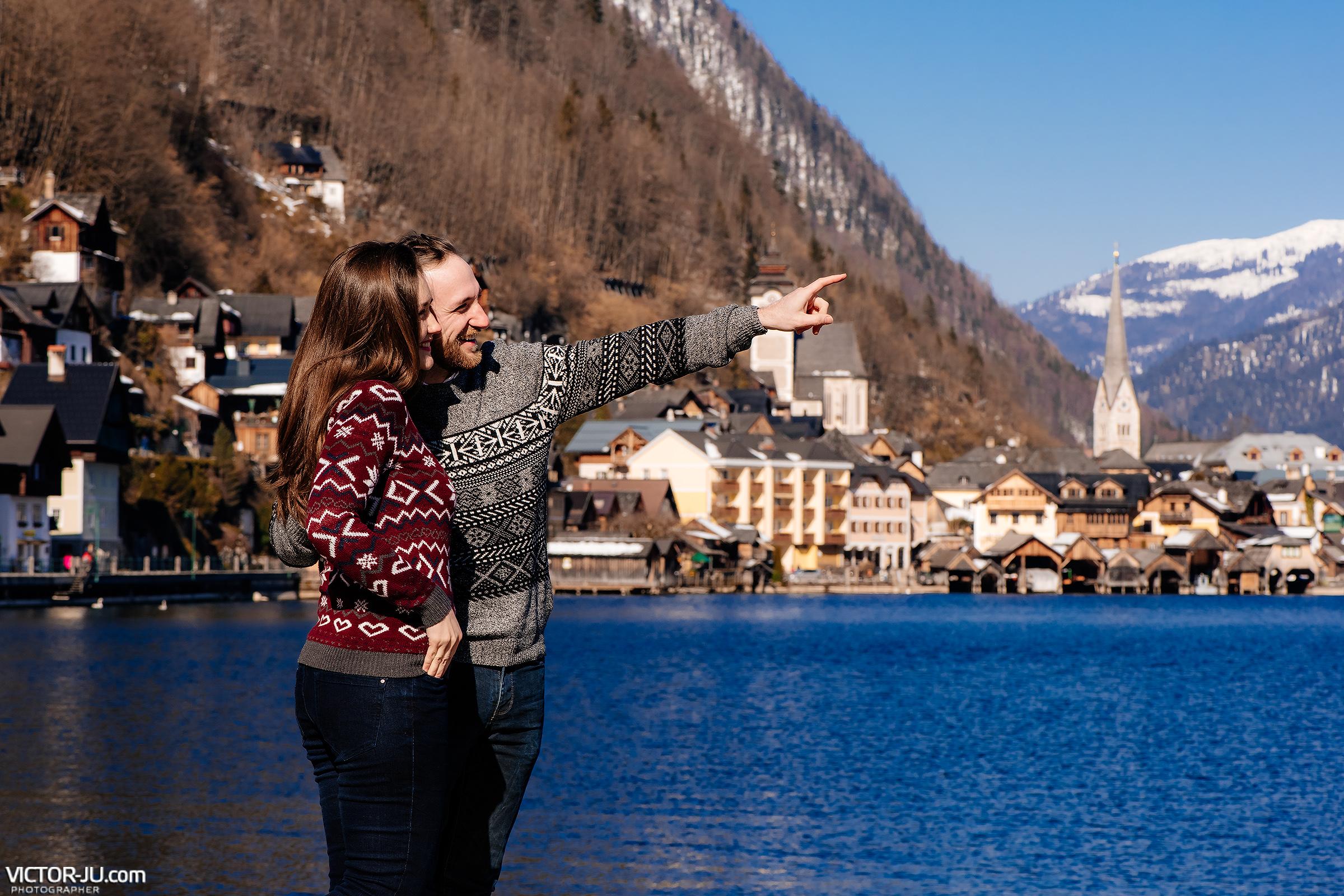 Love story фотосессия в Австрии, Халльштатт