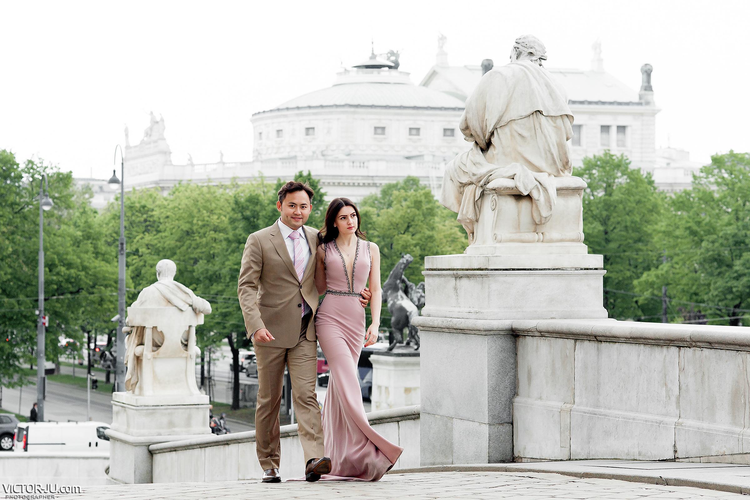 pre-wedding photographer in Vienna