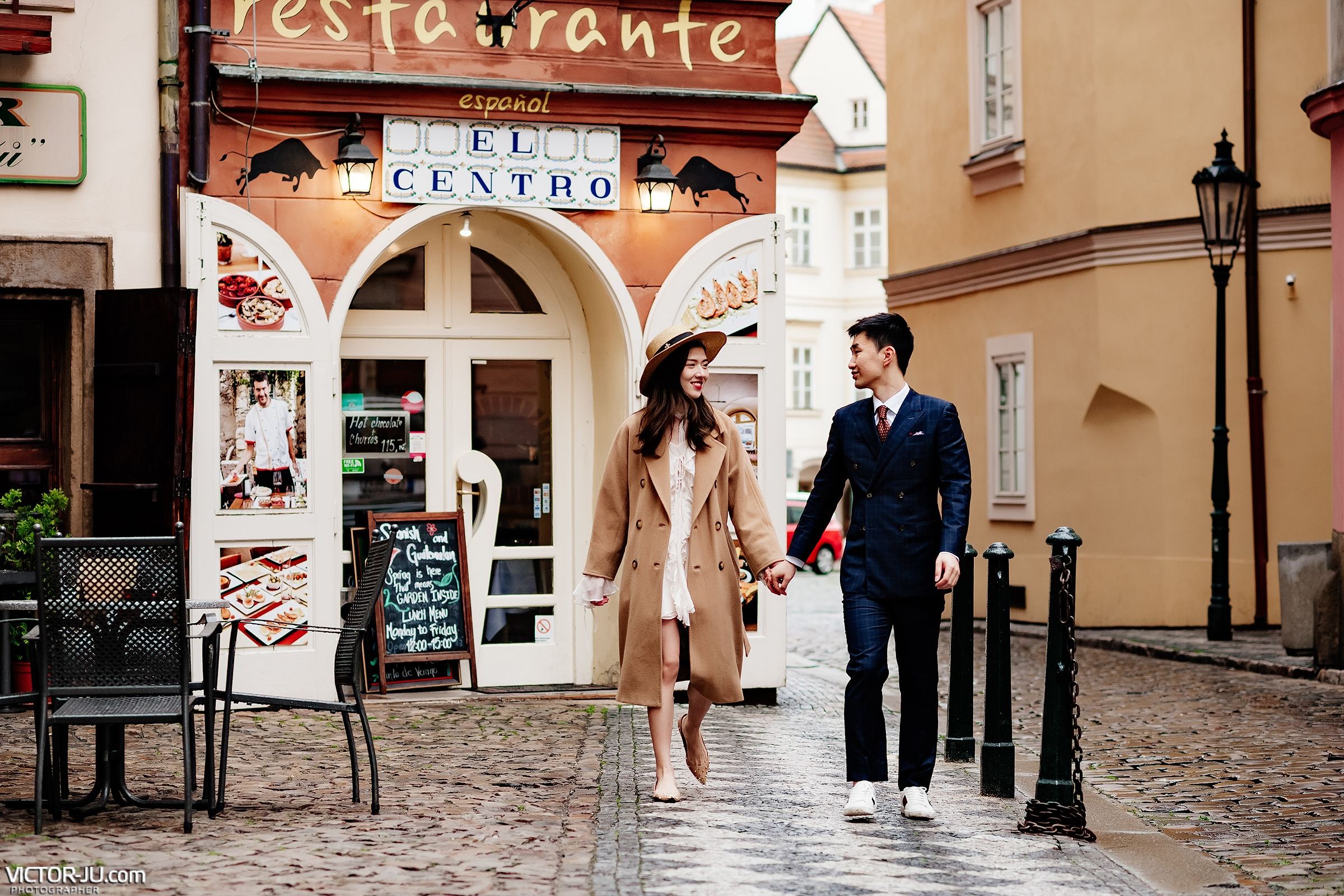 Prewedding photo shoot in Prague