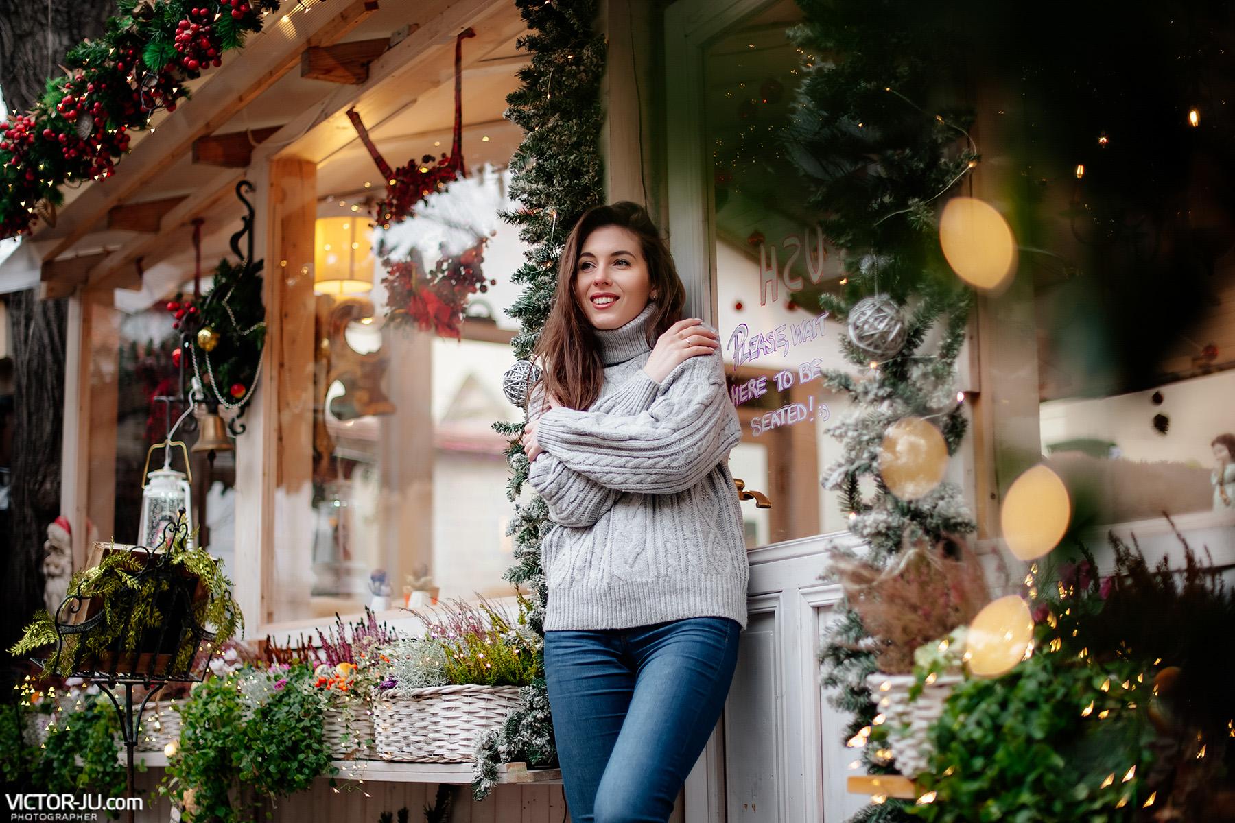 Фотограф в Праге зимой