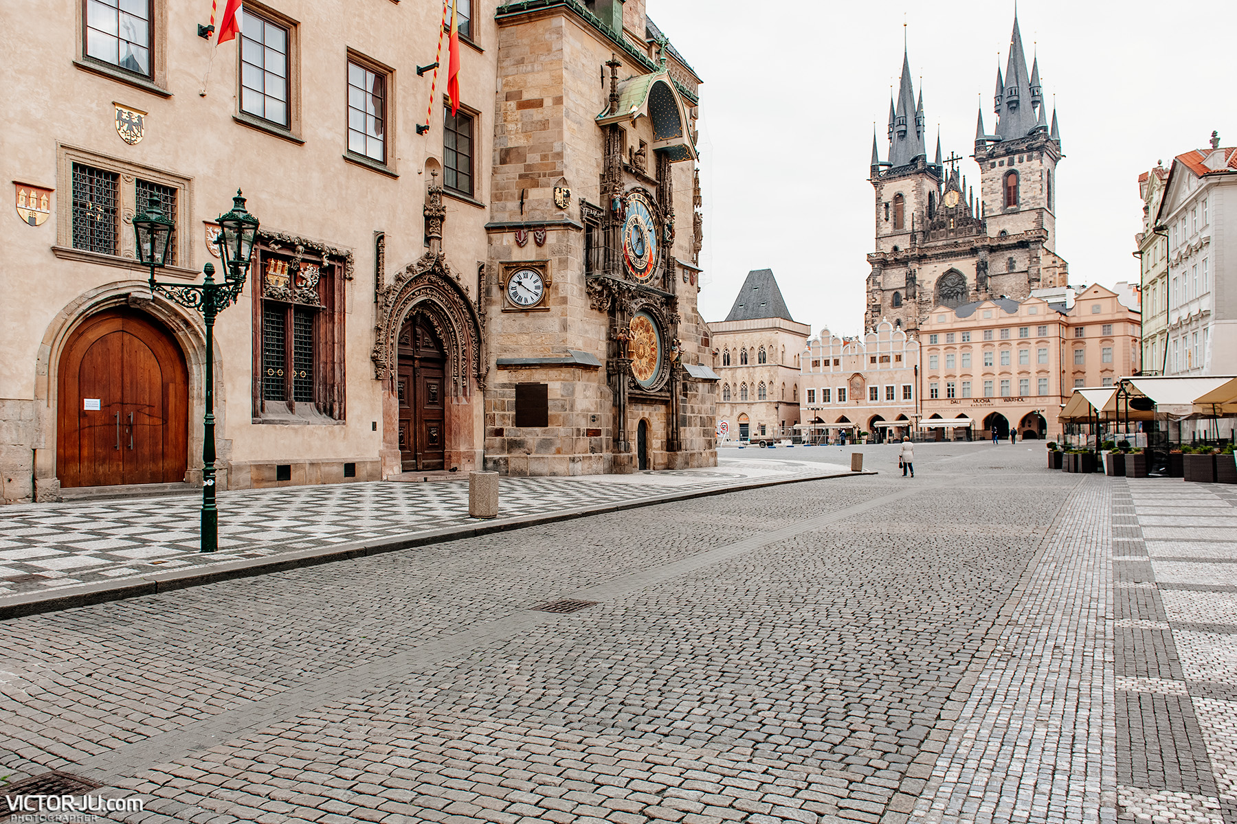Староместская площадь в Праге во время пандемии
